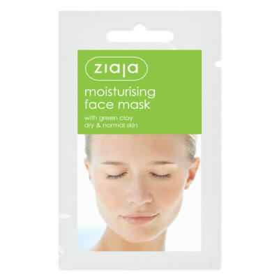 ZIAJA Hidratáló arcmaszk zöld agyaggal - lejárat: 2020.01