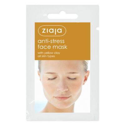 ZIAJA Stresszoldó arcmaszk sárga agyaggal
