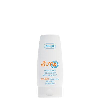 ZIAJA Napozó antioxidáns arckrém FF50+