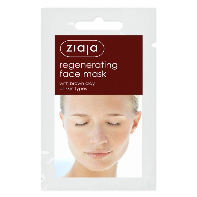 ZIAJA Regeneráló arcmaszk barna agyaggal